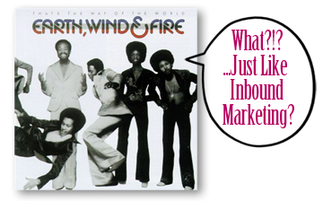 Earth Wind Fire album cover is just like inbound marketing