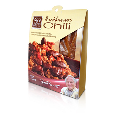 Browns Backburner Chili Package Design