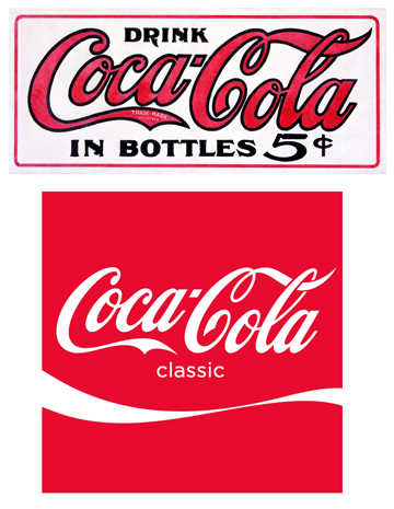Old & New Coca-Cola Logos