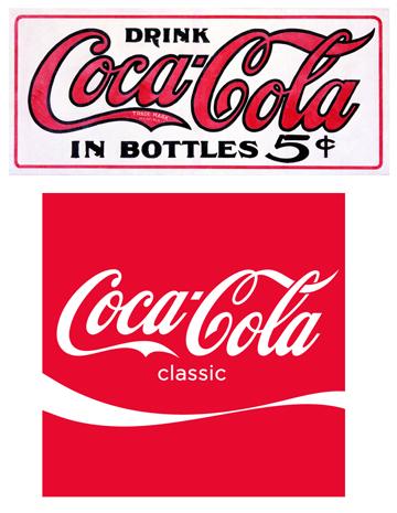 Old & New Coca-Cola Logos