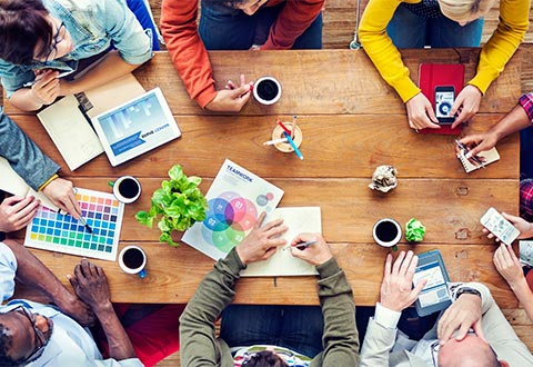 Planning with a team of creative professionals