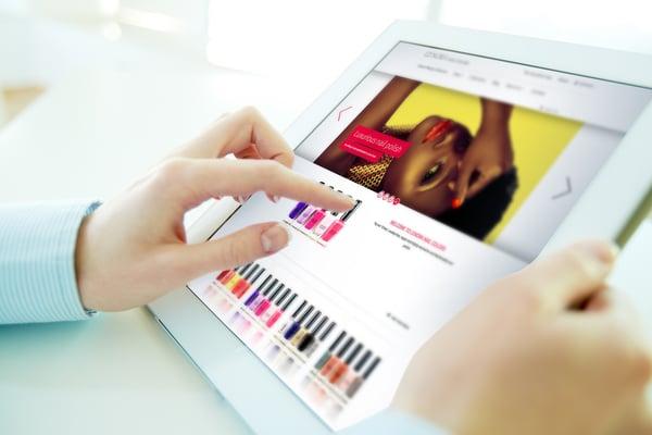 online shopping-tablet