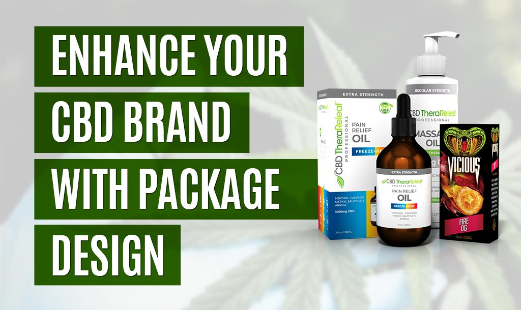 Custom branded CBD packaging design