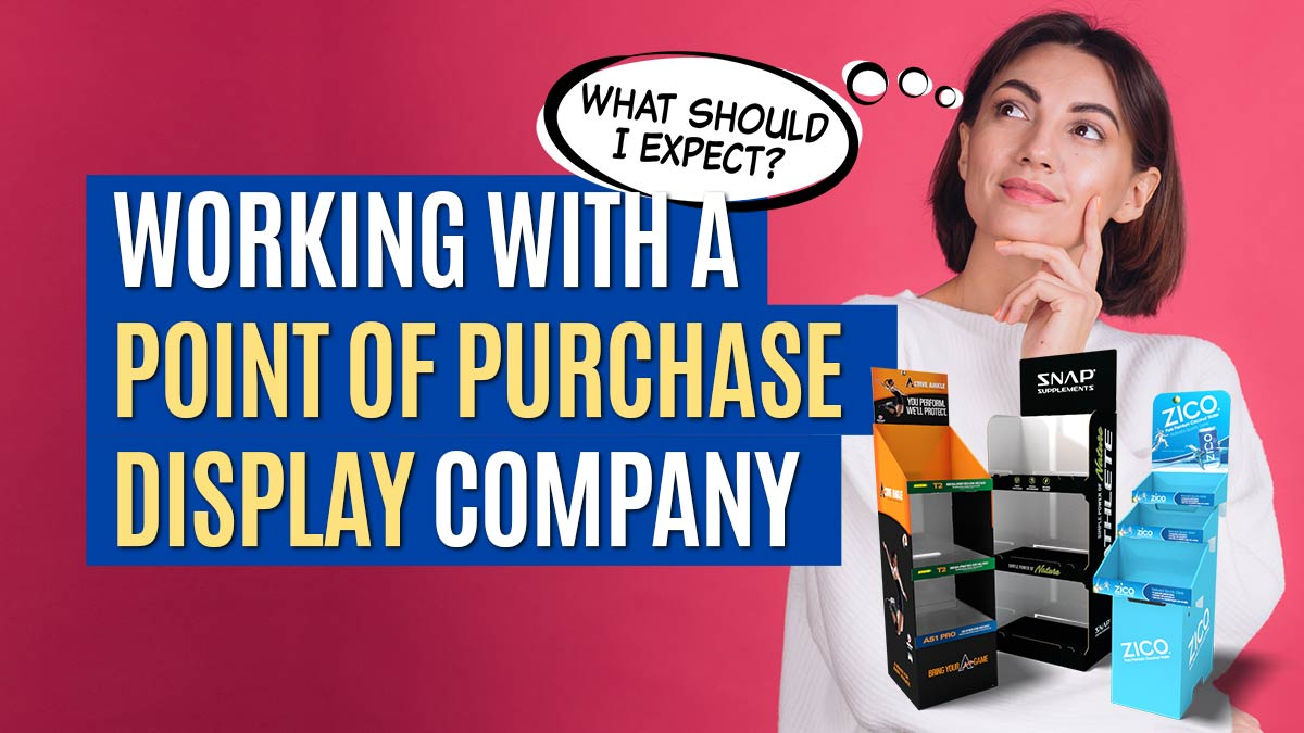 Feature image of a woman pondering what to expect when working with a point of purchase display company